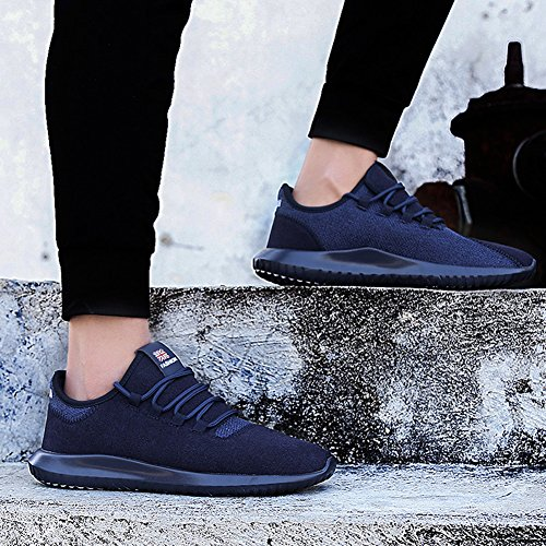 HONGANG Running Shoes, Classic Fashion Running Shoes with Mesh Breathable Lightweight for Outdoor Gym Running Shoes. Blue