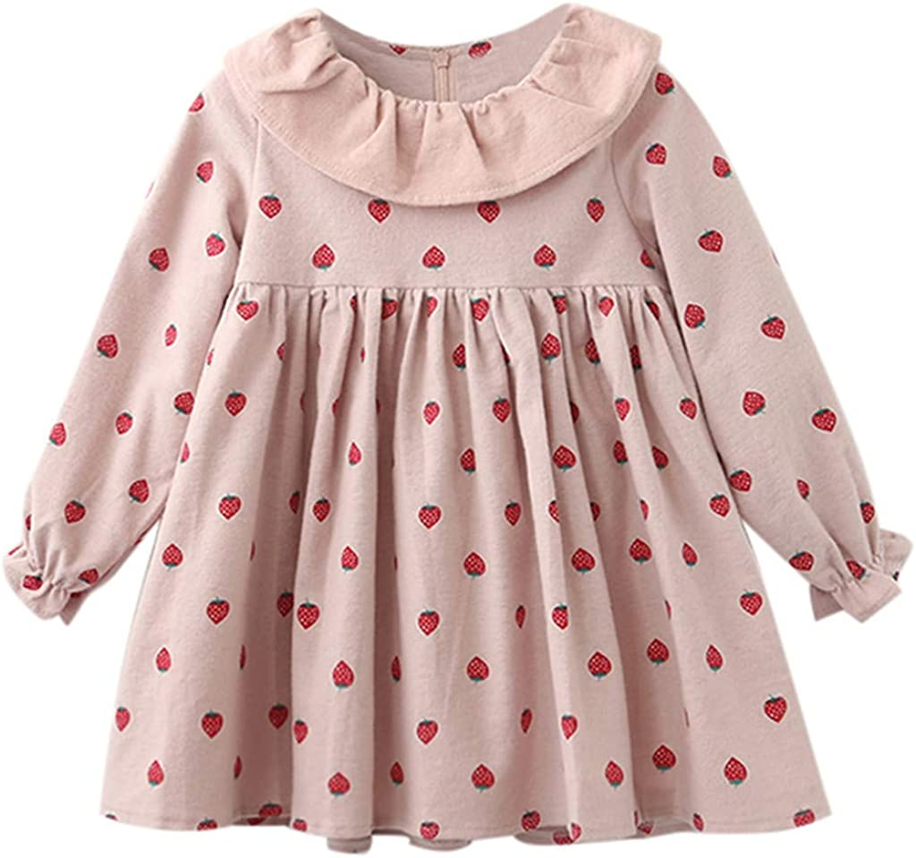 Cartoon Print Princess Dress Casual Outfits Clothes Summer Sundress GorNorriss Kid Girls Cotton Dress