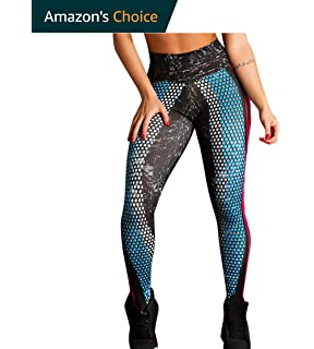 e5668cdce1aad URIBAKE Women's Workout Leggings Ultra Soft Mid Waist Print Fitness Sports  Gym Running Yoga Athletic Pants