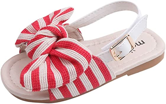 Enfants Filles Sandales D/ét/é Bout Ferm/é Plat Chaussures de Princesse Chaussons de Enfants Sandales B/éb/é Chaussures Premiers Pas