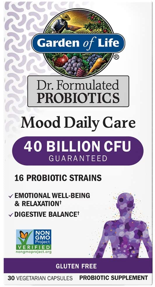 Garden of Life Mood Daily Care Probiotics, 30 Vegetarian Capsules