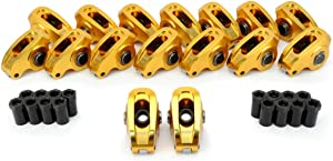"COMP Cams 19043-16 Ultra-Gold Aluminum Roller 1.6 Ratio, 3/8"" Stud Diameter Rocker Arm for Small Block Ford"