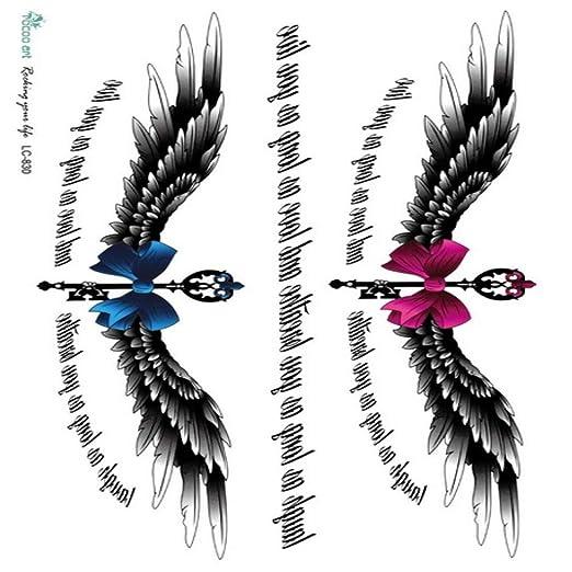 5pcs Impermeable Etiqueta engomada del Tatuaje divinas alas de ...