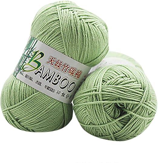 Winkey Ovillo de hilo, 100 % de algodón cálido de bambú natural ...