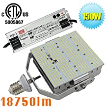 (Pack of 8) 150W LED Shoebox Parking Lot Retrofit 400W HPS Equivalent 6000K Crystal White E39 Mogul Base Pole Street Lamp,Flood Light,Area Lights AC100-277V