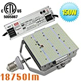 ETL Listed 150W LED Retrofit Outdoor Street Flood Light Replace 400 Watt Metal Halide/HPS 5000K Crystal White in Parking Lot,Garage,Car Park 100-277v