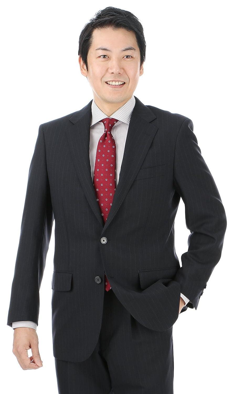 (ヨウフクノアオヤマ)洋服の青山 (リーガル)REGAL 春夏用 【ストレッチ】【形状記憶】【抗菌消臭】スタンダードスーツ H18R4007-13 B078MTJ54G AB体(がっちり型)7号(180cm)