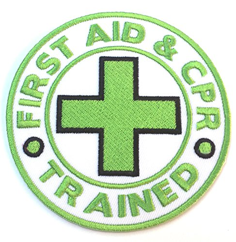 First Aid & CPR Trained Embroidered Iron on Patch / 3