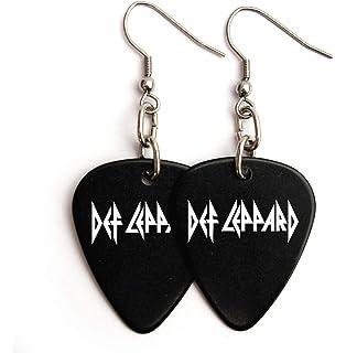 Amazon.com: Llavero con logotipo de púa de guitarra de Def ...