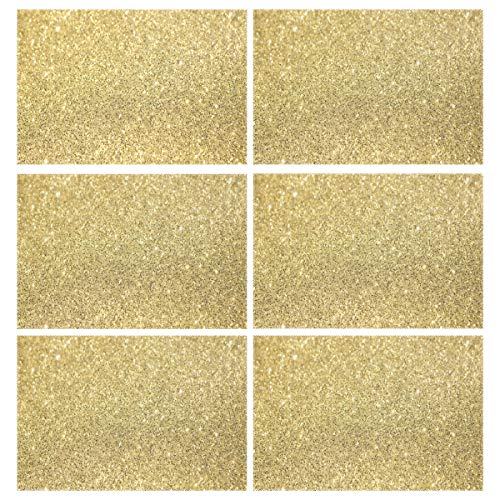 Cocoa trade Heat Resistant Placemats for Kitchen Table Mats Dining Room,Glitter Tumblr Backgrounds Washable Insulation Non Slip Placemat 12x18 inch(6 pcs)