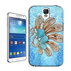 Peacock in Blue Background TPU Hard Cover Case Samsung Galaxy Note 3 N9005