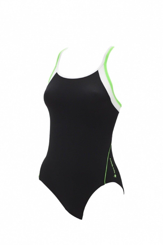 Aqua Sphere Safran Damen Badeanzug - Schwimmanzug black bright green