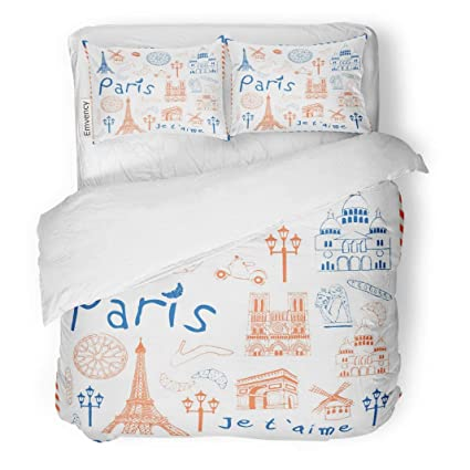 Amazon.com: MIGAGA Decor Duvet Cover Set Twin Size France ...
