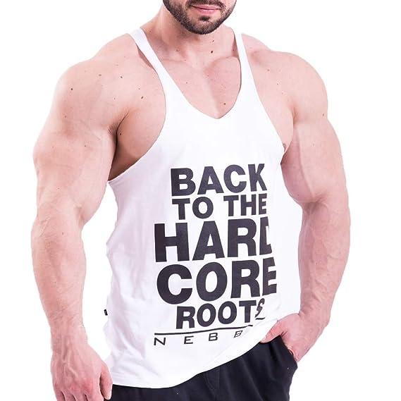 Amazon.com: Camiseta sin mangas para hombre, sin mangas ...
