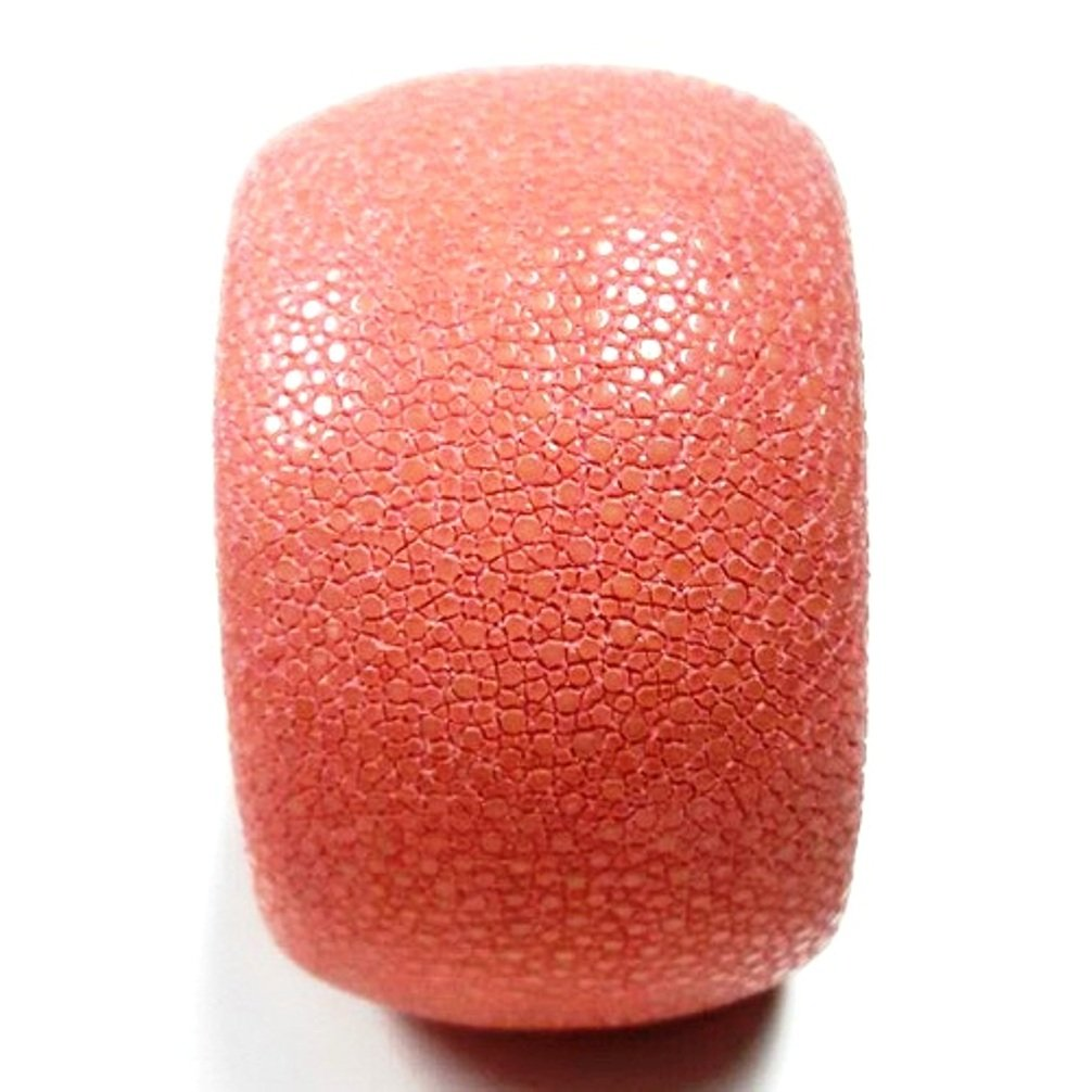 ROSE PINK SALMON Stingray Leather Cuff 40 mm Padded Size 21 CM