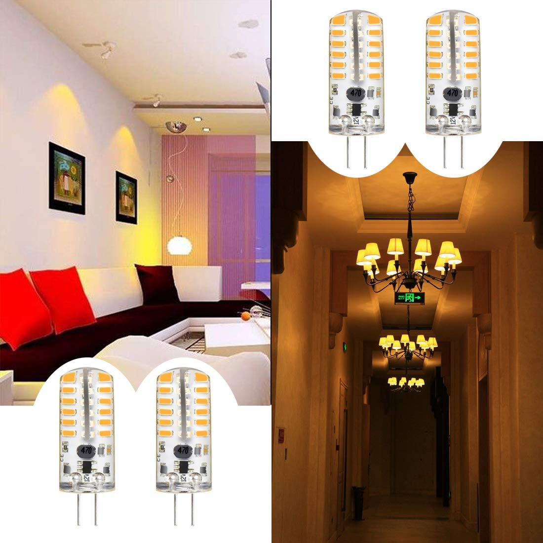 3W Warm White 12V Led Light Bulb G4 3W LED Bulb Bi-Pin Socket Warm White Light Lamps AC//DC 12V Non-dimmable Equivalent to 20W ~ 25W T3 Halogen Track Bulb Replacement LED Bulbs 10pcs