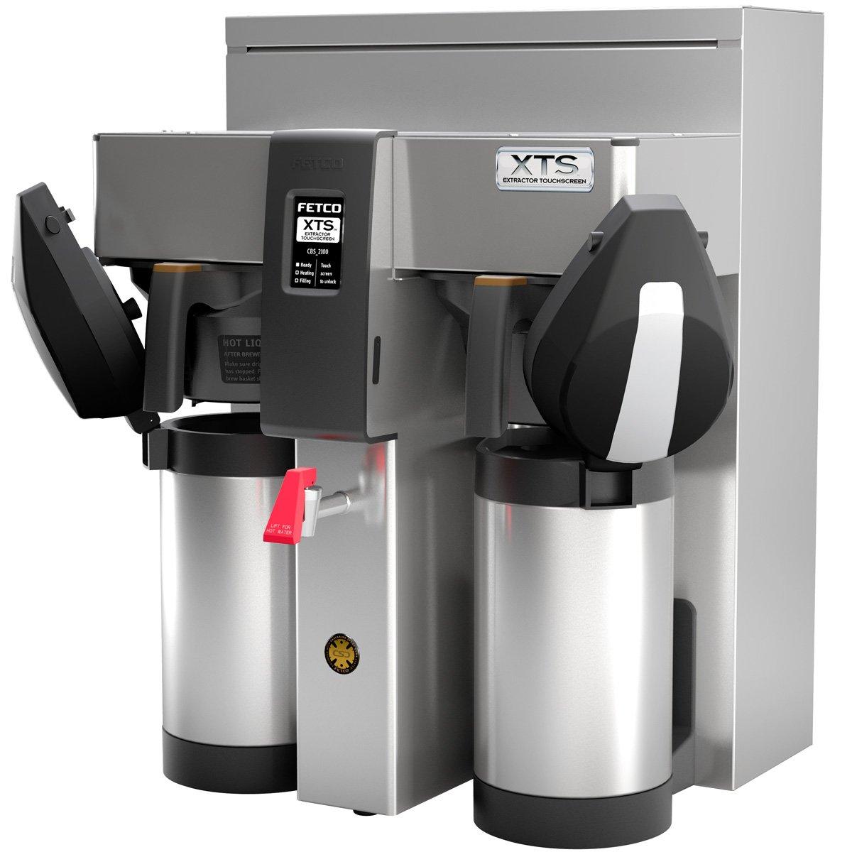 Fetco CBS-2132XTS Twin Station Touchscreen Series Airpot Coffee Brewer