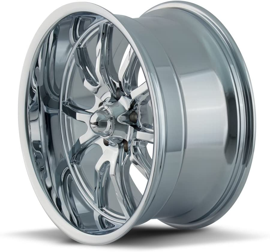 Ridler 650 Chrome Wheel Finish 18 x 9.5 inches //5 x 120 mm, 0 mm Offset