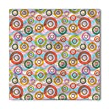 Search : Retro Bandana by Ambesonne, Hippie Style Punk Sixties Circles Ring Shapes Round in Colors Various Weathered Tones, Printed Unisex Bandana Head and Neck Tie Scarf Headband, 22 X 22 Inches, Multicolor
