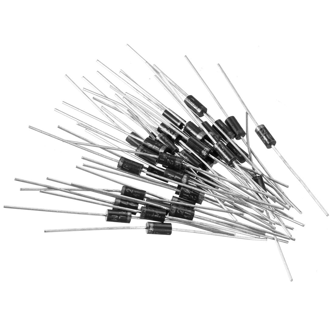 uxcell Schottky Rectifier Diode 3A 1000V Axial Electronic Silicon Diodes 30pcs for 1N5408