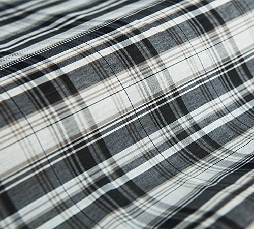 Generic Yarn Dyed Plaid Pattern Silk Blends Cotton Fabric, 43.3