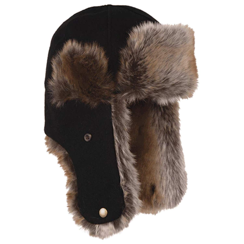 Stormy Kromer The Northwoods Trapper Hat, Color: Black, Size: Sm (51210-000040-2