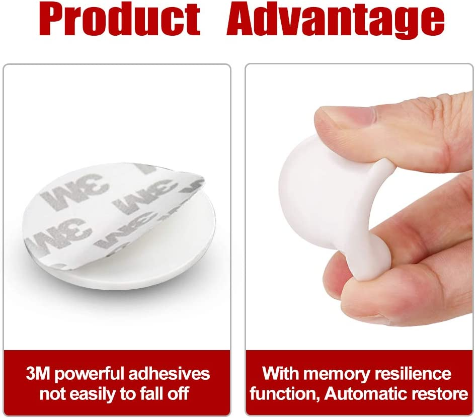6 Pack Wall Protectors with Self Adhesive 3M Sticker for Protecting Wall 1.57 Larger Silicone Door Handle Bumper Door Stopper Wall Protector