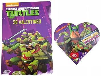 Amazon.com : Teenage Mutant Ninja Turtle 32 Valentines and ...