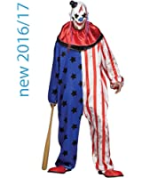 Fun World Evil Circus Clown Plus Costume-