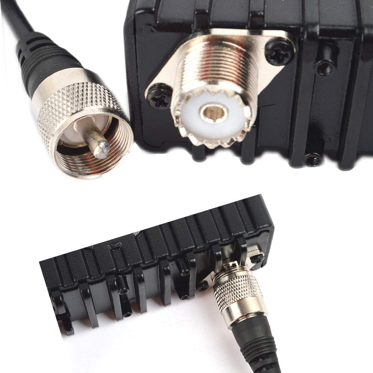 16.4ft HYS RG58 5 M Low Loss UHF SO239 Female to Male FM Transceiver Antenna Cable Coaxial PL259 Coax Connectors for Ham CB//VHF//UHF//HF Radio Antenna and UHF//VHF Mobile Radio