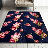 Kids Cartoon Polyester Home Rug - Educational Learning Area Carpet For Kids Playroom 75 x 77 Inch