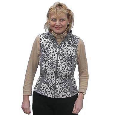 8e6f188ba12a Daily Sports Ladies Leopard Print Fleece Golf Wind Gilet in Slate Grey Size  Small: Amazon.co.uk: Clothing