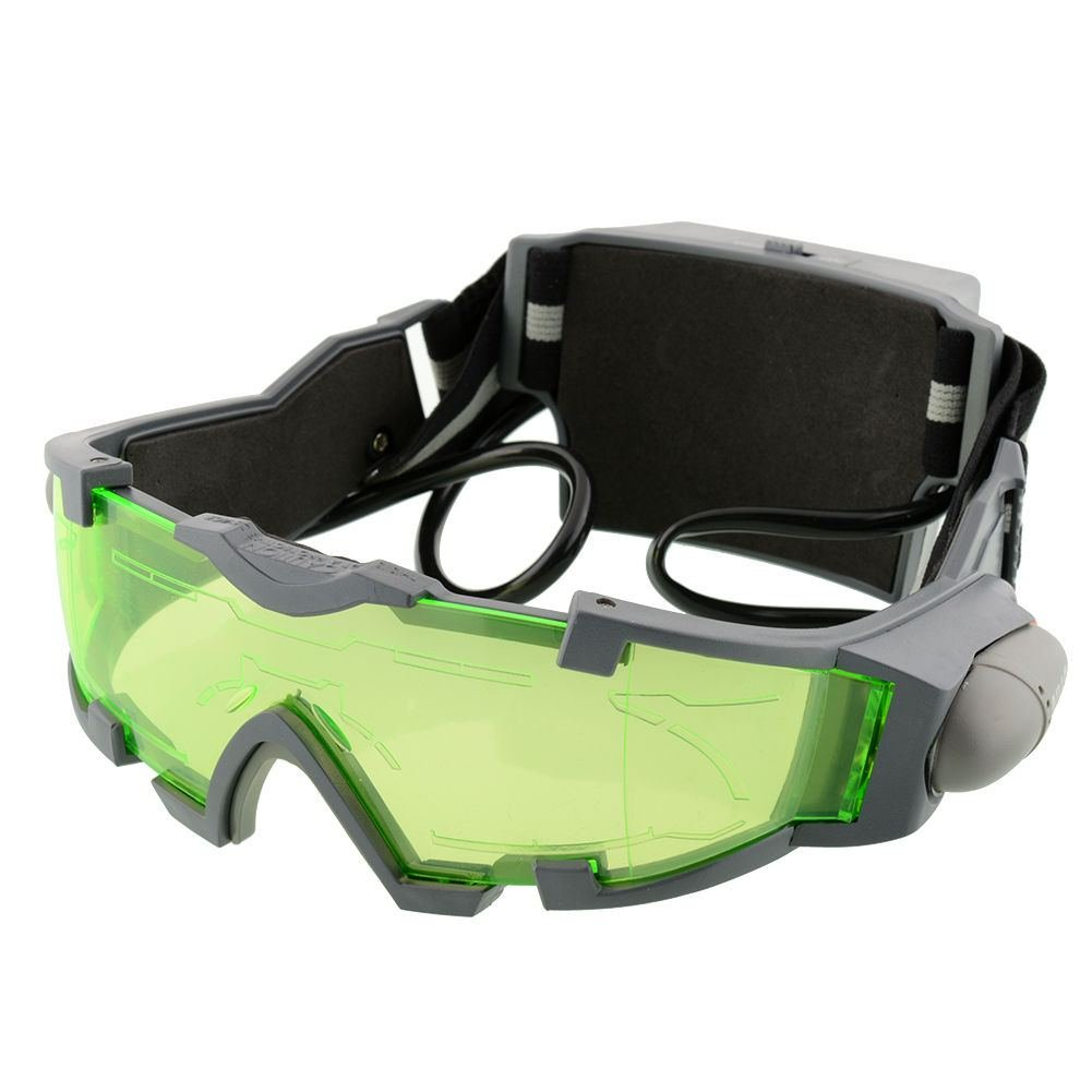 New Adjustable Elastic Band Night Vision Goggles Glasses Eye Shield With LED