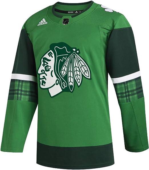 adidas Mens Chicago Blackhawks NHL Authentic 1//4 Zip Pullover