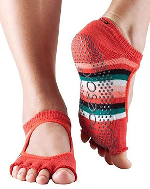 Toesox Mujer 1 par Bella Yoga Calcetines de algodón orgánico ...