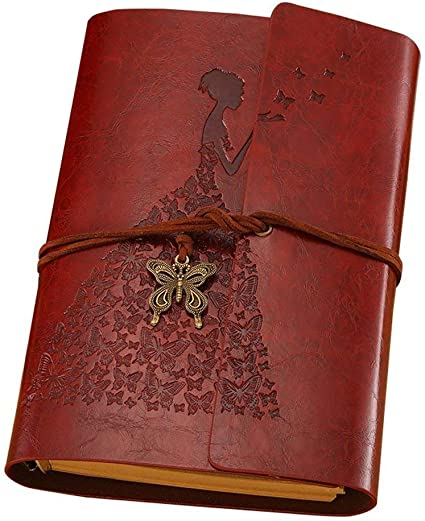 Magic Vosom Leather Journal Blank Paper Bound Journal Sketch Book Holder Vintage Writing Notebook Traveler Diary