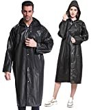 TELALEO (2 Pack Reusable Rain Poncho for Adult, Portable Unisex Raincoat with Drawstring Hood, Durable, Emergency Poncho, Suitable for Outdoor Activities, Both Women and Men