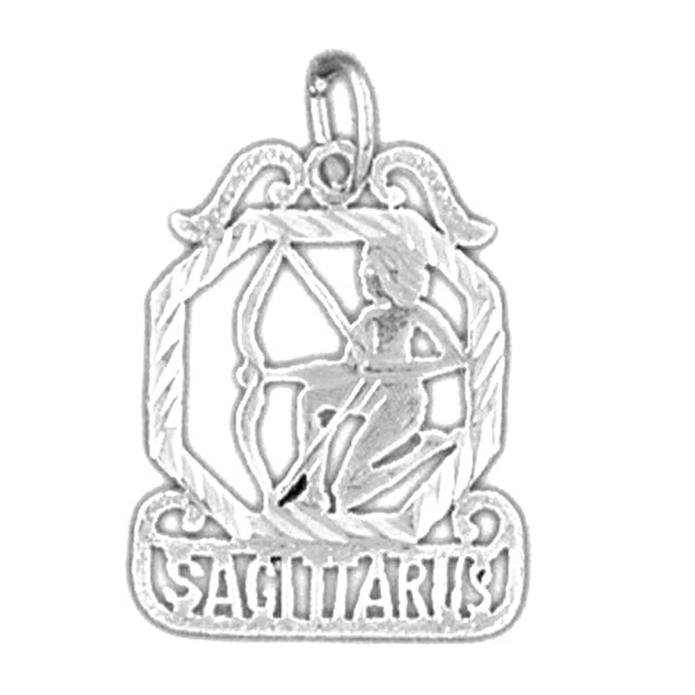 Rhodium-plated 925 Silver Zodiac Sagittarius Pendant with 18 Necklace Jewels Obsession Zodiac Sagittarius Necklace