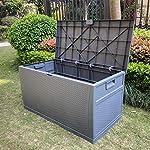 460L Weatherproof Rattan Effect Plastic Garden Deck Box