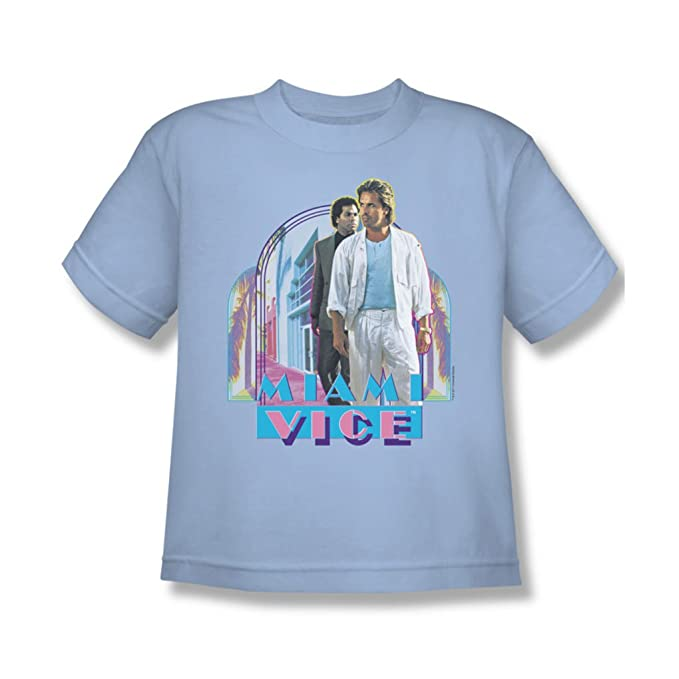 pretty nice dfada 1dda3 Miami Vice - Miami Heat Youth T-Shirt in Light Blue: Amazon ...