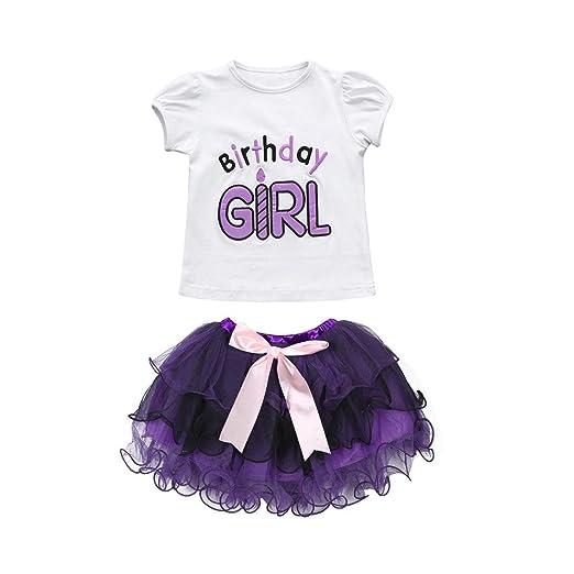 9e98cf945c5b Amazon.com  KONFA Toddler Baby Girls Letter Print Romper+Bowknot ...