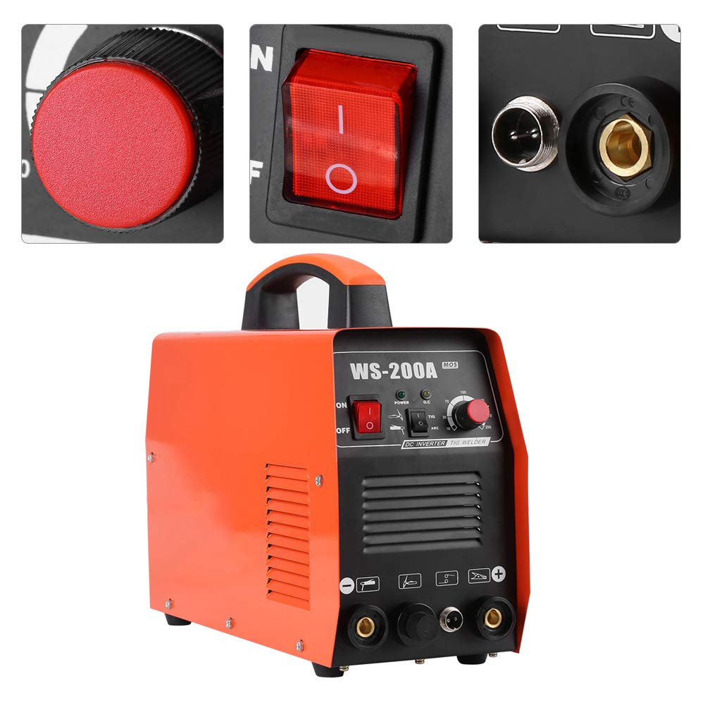 TIG Welder, 220V Digital Display Inverter Start Welder, DC Welding Machine Complete Accessories Set by Aufee (Image #1)