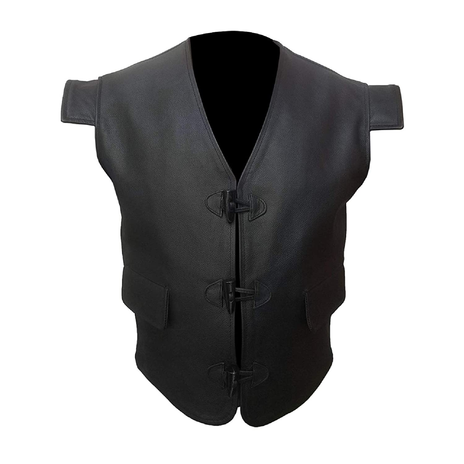 "Deluxe New Men/""s Tan Real Suede Leather Party Waistcoat Classic Fashion Design"
