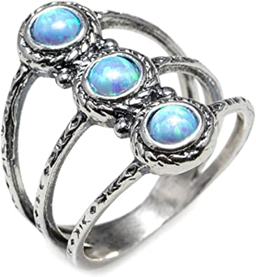 Natural White Fire Opal Stud Earrings Silver Color Round Women/'s Jewelry LC