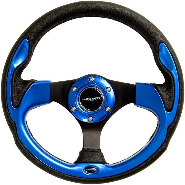 - Black Leather with Black Spokes // Carbon Fiber Look Trim NRG Steering Wheel Part # ST-001R-CBL 01 12.60 inches - 320mm Pilota