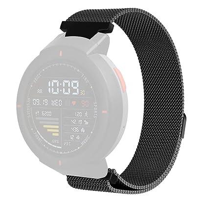 Reloj Inteligente Huami Amazfit Verge, 💗MINXINWY Correa Milan Reloj Bonita Magnética de Acero Inoxidable