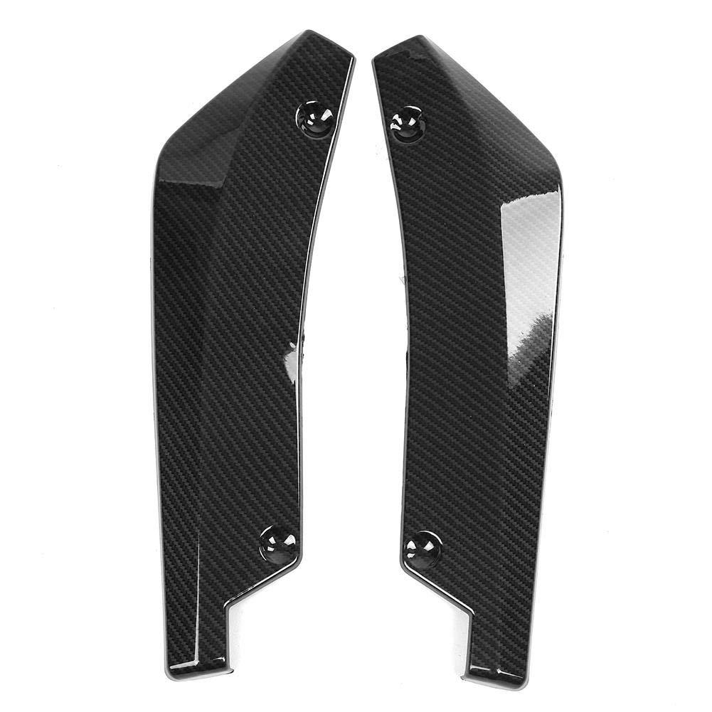Duokon 1 paire de Spoiler de Pare-chocs arri/ère,Aileron de S/éparateur de L/èvre de Spoiler Diffuseur de Canard de pare-chocs Arri/ère de voiture universelle Fibre de carbone