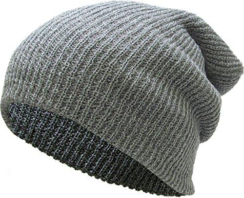 KBW-10 LGY Slouchy Beanie Baggy Style Skull Cap Winter Unisex Ski Hat