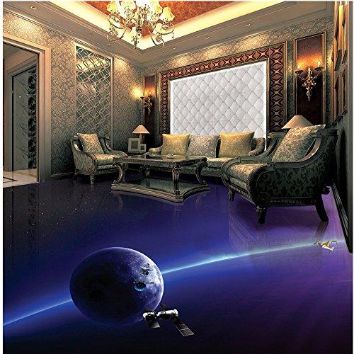 LHDLily Abstract 3D Custom Flooring Wallpaper Mural Bedroom Living Room Hotel Outdoor Wear Non-Slip Floor Sticker ()