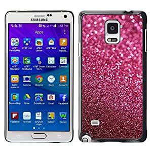 TopCaseStore / la caja del caucho duro de la cubierta de protección de la piel - Glitter Pink Purple Bling Sand Reflective - Samsung Galaxy Note 4 SM-N910